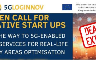 5G-LOGINNOV Open Call for innovative start-ups: Deadline extended!